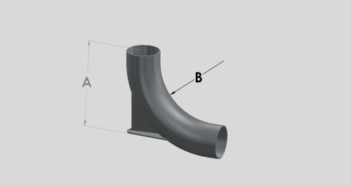 88 Degree Long Radius Bend - Heel Rest