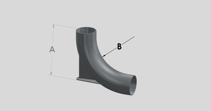 88 Degree Long Radius Bend - Heel Rest