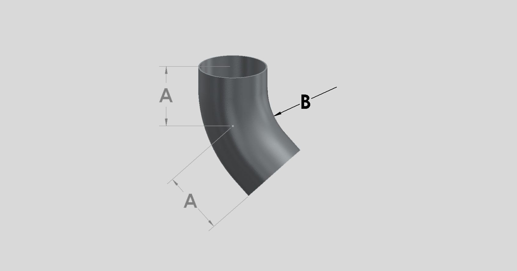 45 Degree Medium Radius Bend