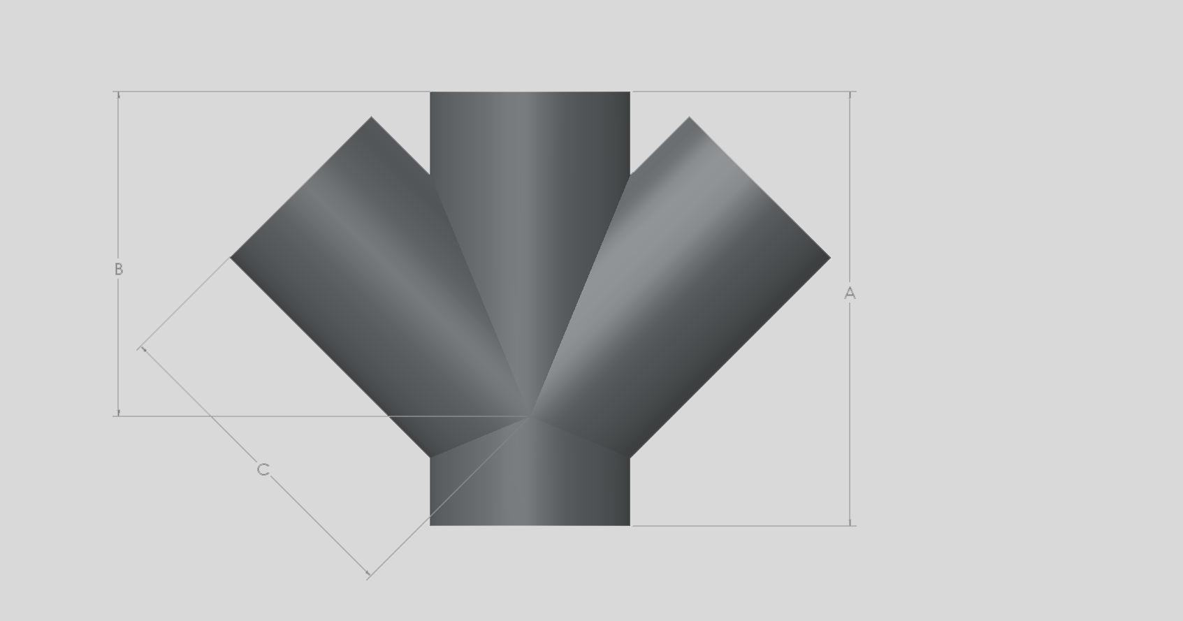 45 Degree Double Branch - Radius Curve