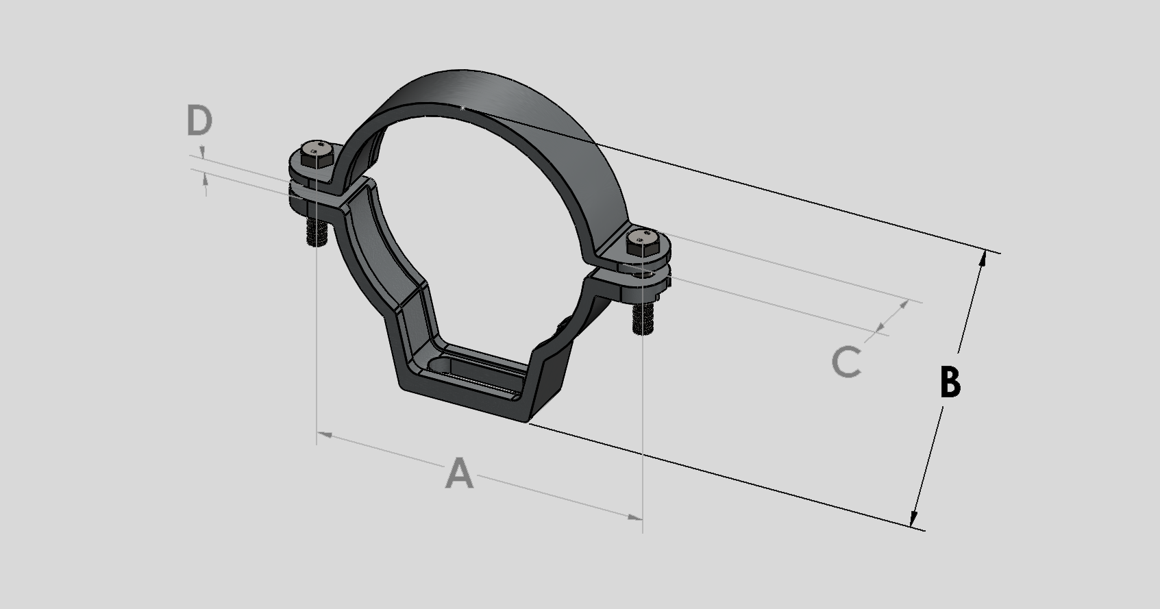 Coated Adjustable Bracket