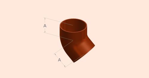 45 Degree Short Radius Bend