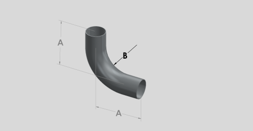 88 Degree Long Radius Bend